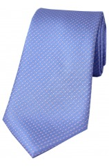 Soprano Sky Blue and Pink Pin Dot Silk Tie