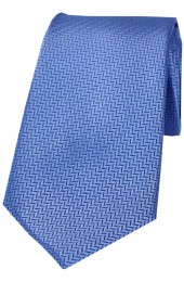 Soprano Royal Blue Herringbone Silk Tie