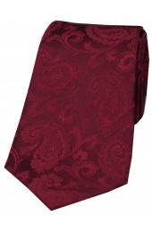 Soprano Wine Luxury Paisley Silk Tie