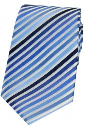 Soprano Blue Shades Striped Silk Tie