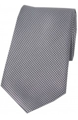 Soprano Grey Textured Woven Silk Tie