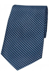 Soprano Navy and Royal Dogtooth Silk Tie