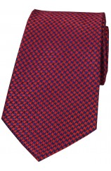 Soprano Red and Navy Dogtooth Silk Tie