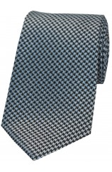Soprano Grey and Black Dogtooth Silk Tie