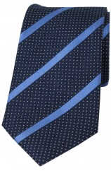 Soprano Navy and Royal Striped Silk Tie