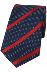 Soprano Navy and Red Striped Silk Tie