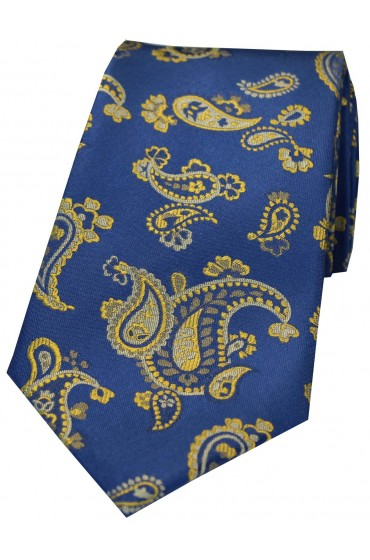 Soprano Royal And Gold Edwardian Paisley Silk Tie