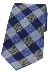Soprano Shades Of Blue Textured Check Silk Tie