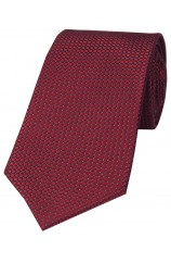 Soprano Wine Box Weave Luxury Silk Tie