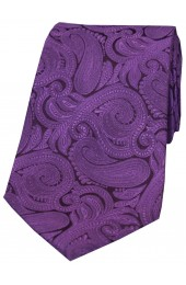 Soprano Purple Large Paisley Woven Silk Tie