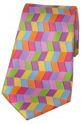 Soprano Multicoloured Zig Zag Silk Tie