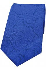 Soprano Blue Ground Paisley Luxury Silk Tie