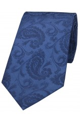 Soprano Denim Blue Paisley Silk Tie