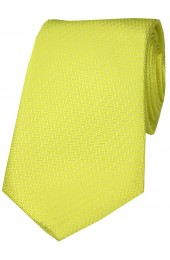 Soprano Canary Yellow Herringbone Silk Tie
