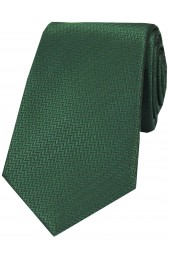 Soprano Racing Green Herringbone Silk Tie