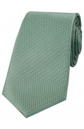 Soprano Duck Egg Green Herringbone Silk Tie
