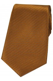 Soprano Copper Herringbone Silk Tie