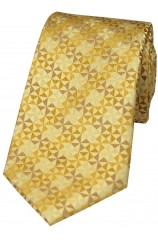 Gold Windmill Design Silk Tie
