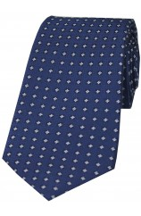Blue Neat Small Flowers design Silk Tie