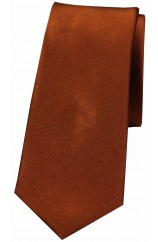 Soprano Bronze Thin Satin Silk Tie