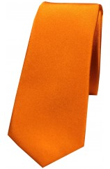 Soprano Copper Thin Satin Silk Tie