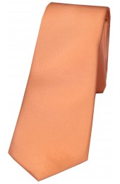 Soprano Peach Satin Silk Thin Tie