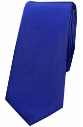 Soprano Royal Blue Thin Satin Silk Tie