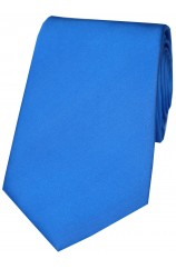 Soprano Plain Azure Blue Satin Silk Tie