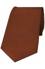 Soprano Plain Bronze Satin Silk Tie