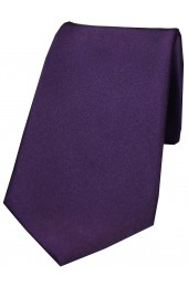 Soprano Purple Smooth Satin Silk Tie