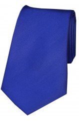 Soprano Royal Blue Smooth Satin Silk Tie