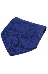 Soprano Navy Blue Paisley Silk Pocket Square