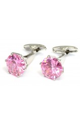 Pink Crystal Posh and Dandy Cufflinks