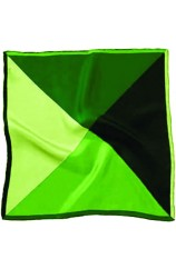 Soprano 4 Colour Greens Mens Silk Pocket Square