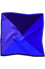 Soprano 4 Colour Purple Mens Silk Pocket Square