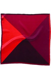 Soprano 4 Colour Red Mens Silk Pocket Square