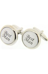 Soprano Best Man Enamelled Cufflinks