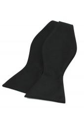 Soprano Black Satin Polyester Self Tied Bow Tie