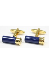 Soprano Blue and Gold Shotgun Cartridge Cufflinks