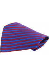 Soprano Blue and Red Striped Pocket Square