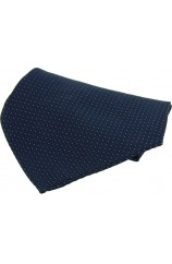 Soprano Blue Textured Box Weave Mens Silk Pocket Square