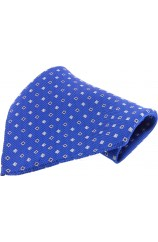 Soprano Blue With Small Squares Silk Pocket Square