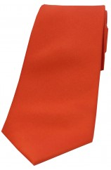 Soprano Burnt Orange Satin Silk Tie