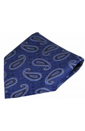 Soprano Edwardian Paisley on Tapestry Blue Ground Silk Pocket Square