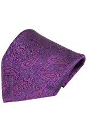 Soprano Edwardian Paisley on Tapestry Purple Ground Silk Pocket Square