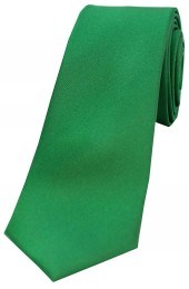 Soprano Emerald Satin Silk Thin Tie