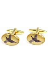 Soprano Flying Pheasant Country Cufflinks