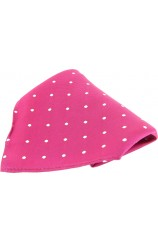 Soprano Fuchsia and White Polka Dots Mens Silk Pocket Square