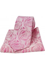 Soprano Fuchsia Rose Wedding Matching Silk Tie and Pocket Square