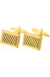 Soprano Gold Coloured Rectangular Grill Cufflinks With Swivel Fitting
